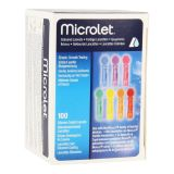 Bayer Microlet color lancetten 100 stuks - thumbnail
