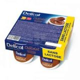 Delical Crème HP-HC Chocolade Pudding 4x125g - thumbnail