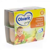 Olvarit compote fruits d'été 4 mois+ 4x100g - thumbnail