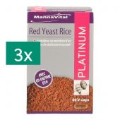 Mannavital Red yeast rice + Q10 platinum Tripack