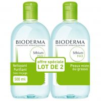 Bioderma Sébium H2O speciale aanbieding Micellaire oplossing 2x500ml - thumbnail