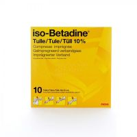iso-Betadine® tulle 10cmx10cm Tulle gras 10 pièces - thumbnail