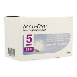 Accu-Fine aiguilles 31G 0,25x5mm 100 pièces
