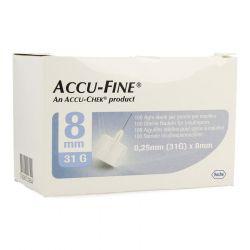 Accu-Fine aiguilles 31G 0,25x8mm 100 pièces