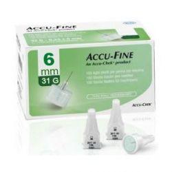 Accu-Fine Naalden 31G 0,25x6mm 100 stuks
