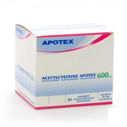 Acetylcysteine 600mg Apotex  Effervescents 60 pièces