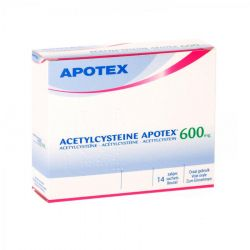 Acetylcysteine 600mg Apotex  Sachets 14 pièces