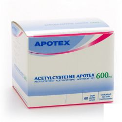 Acetylcysteine 600mg Apotex Sachets 60 pièces