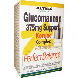 Altisa Glucomannan 375mg Support Konjac Complex Advanced Capsules 30 pièces