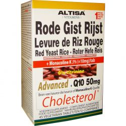 Altisa Rode gist rijst advanced+Q10 Tabletten 45 stuks
