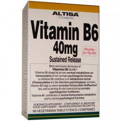 Altisa Vit B6 40mg Sustained Release Tabl 90 Tabletten 90 stuks