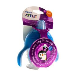 Avent Antilek Pinguinbeker Blauw 200ml