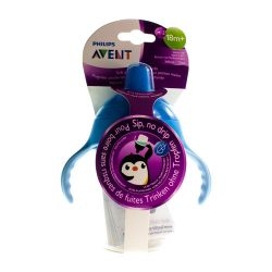 Avent Antilek Pinguinbeker blauw 340ml