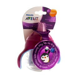 Avent Antilek Pinguinbeker Roze 200ml