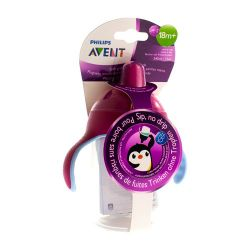 Avent Antilek Pinguinbeker Roze 340ml