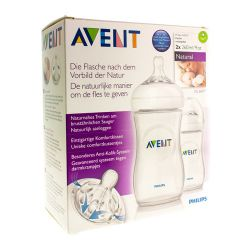 Avent Natural duo zuigfles 2x260ml