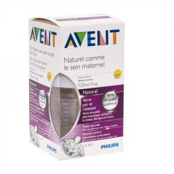 Avent Natural zuigfles glas 120ml 120ml