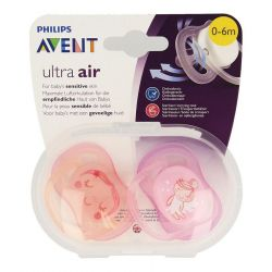 Avent Ultra Air sucettes orthodontiques roses 0-6m 2 pièces