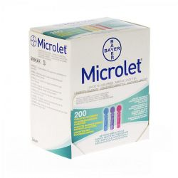 Bayer Microlet color lancetten 200 stuks