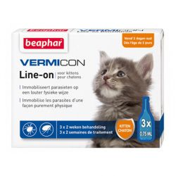 Beaphar Vermicon Line-on chat Pipettes  3x0,75ml