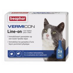 Beaphar Vermicon Line-on Chat Pipettes  3x1ml