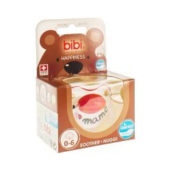 Bibi Fopspeen Happiness I love mama Dental 0-6m 1 stuks