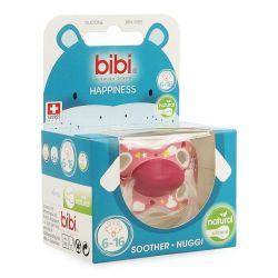 Bibi Fopspeen Happiness Stardust Natural 6-16m 1 stuks