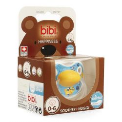 Bibi Happiness dental Birdy sucette 0-6 1 pièces