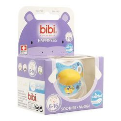 Bibi Happiness dental Birdy sucette 6-16 1 pièces