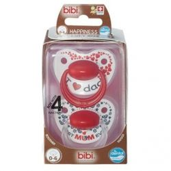 Bibi Happiness dental Duo maman papa sucette 0-6 1 pièces
