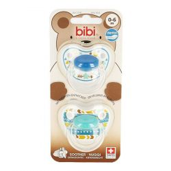 Bibi Tétine Happiness Trends Duo Dental 0-6m 2 pièces