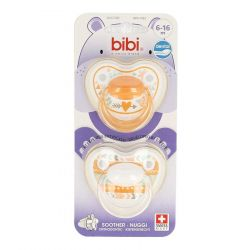 Bibi Tétine Happiness Trends Duo Dental Duo 6-16m 1 pièces