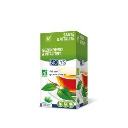 Biolys thé vert infusion Infusettes 20 pièces