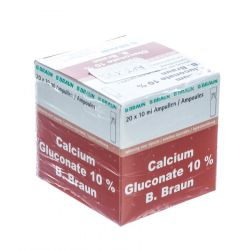 Braun Mini Plasco gluconate de calcium 10% Ampoules 20x10ml