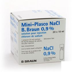 Braun Mini-plasco nacl 0,9% 10 ml Flapulles 20x10ml