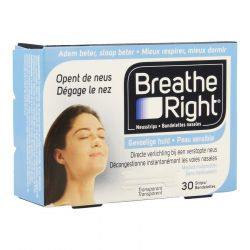 Breathe right 30 bandelettes Bandes nasales 30 pièces