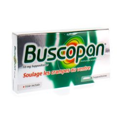 Buscopan 10mg Suppositoires 6 pièces