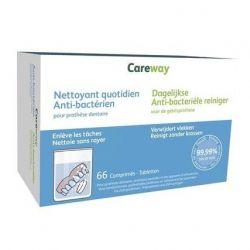 Careway Oral Nettoyant Quotidien anti-bactérien Effervescents 66 pièces