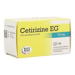 Cetirizina EG 10 mg Tabletas 100 unidades