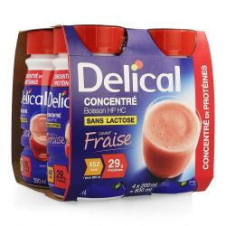 Delical Concentré aardbei Drankje 4x200ml