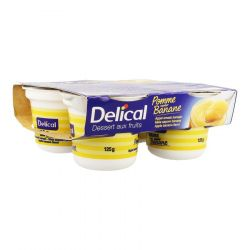 Delical Dessert aux Fruits Nutra'Pote Pomme-Banane Compote 4x125g