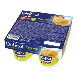 Delical Dessert aux Fruits Nutra'Pote Pomme Compote 4x125g