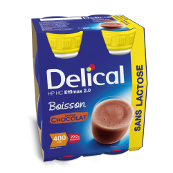 Delical effimax 2.0 chocolat Boisson 4x200ml