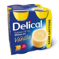 Delical effimax 2.0 vanille Boisson 4x200ml