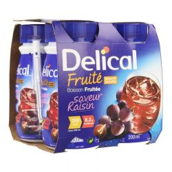Delical Fruité boisson raisin Boisson 4x200ml