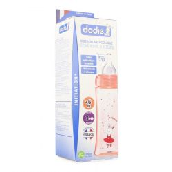 Dodie Zuigfles Brede hals Initiation Roze 330ml