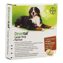 Drontal Large Dog Flavour Tabletten 2 stuks