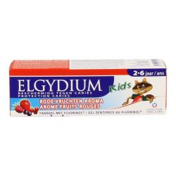 Elgydium kids gel dentifrice fruits rouges 2-6 ans Gel dentaire 50ml