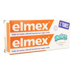 Elmex Junior 6-12j duopack Tandpasta 2x75ml