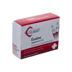 Eosine 2% waterige oplossing Flapullen 10x2ml